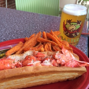 The Colossal Lobster Roll at Linda Beans in Freeport, Maine.