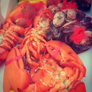 Our Lobster Bake - prepared by Hallowell Seafood & Produce.. thanks Justin!